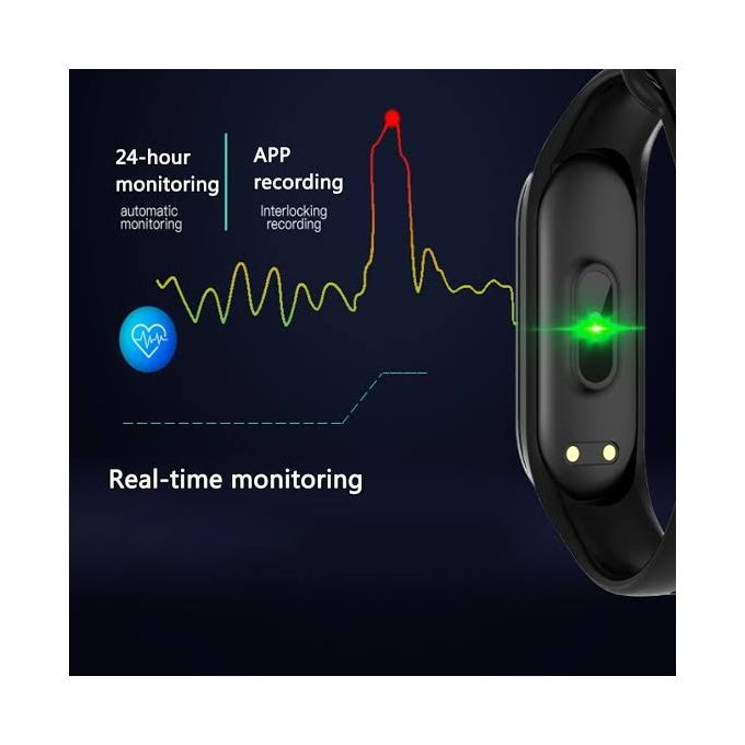 M4 Plus Connected M4 Sports Bracelet Pedometer Heart Rate